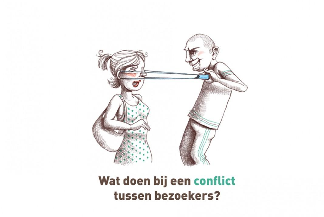 Wat doe je bij en conflict tussen bezoekers?
