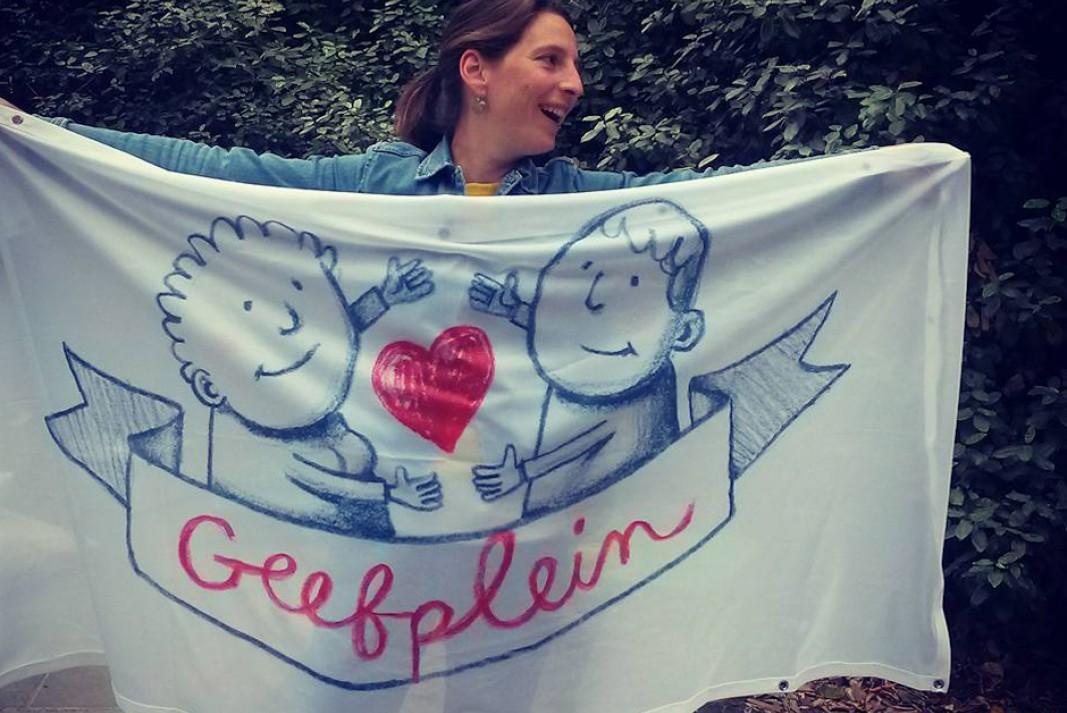 Geefplein banner