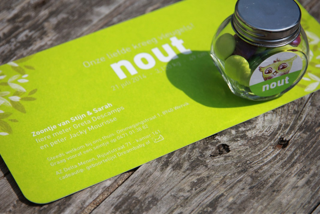 Birth card Nout