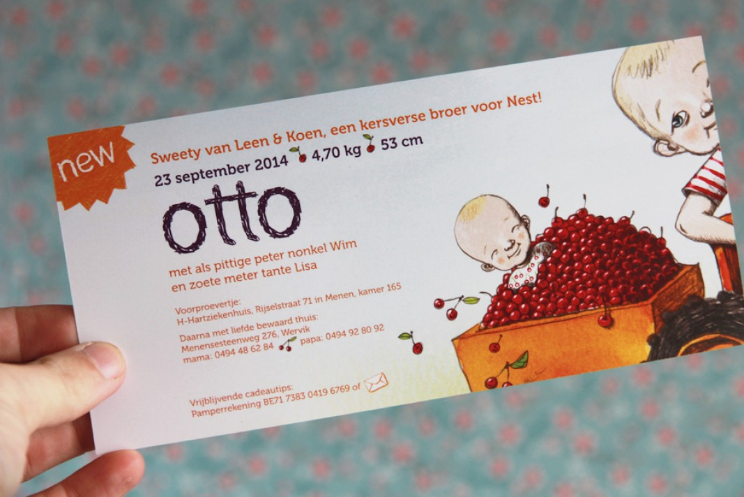 Birth card Otto